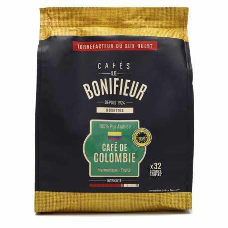 Dosettes café de Colombie 100% arabica cafés le bonifieur