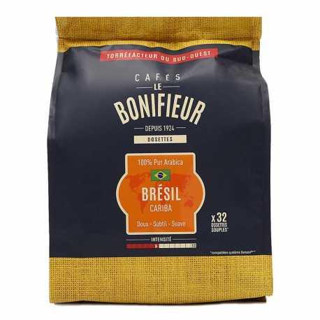 Café Brésil en dosettes souples le bonifieur compatible SENSEO®*