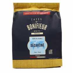 Café décaféiné en dosettes souples le bonifieur compatible SENSEO®*