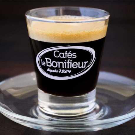 tasse en verre caffeino Cafés le BONIFIEUR