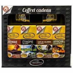 coffret cadeau capsules de café compatibles nespresso - cafés le bonifieur