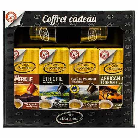 Coffret cadeau 80 capsules compatibles Nespresso®*