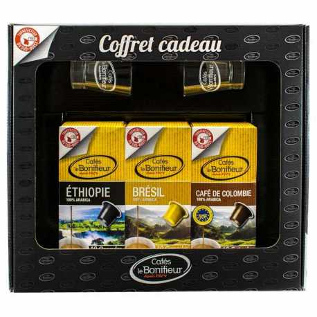 Coffret cadeau 30 capsules compatibles Nespresso®* - Cafés le BONIFIEUR