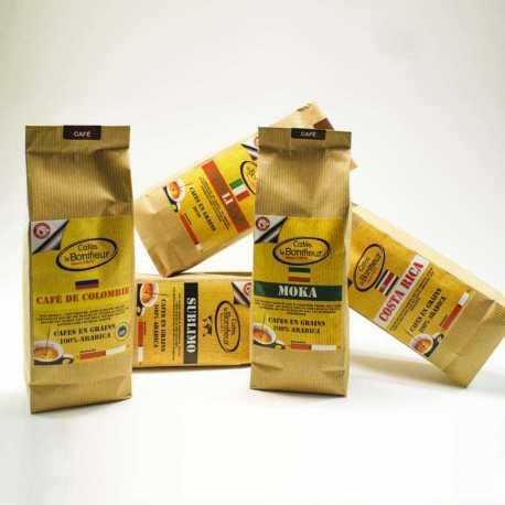 Café en grain Coffret offre découverte gamme Premium Grands Crus Cafés le BONIFIEUR