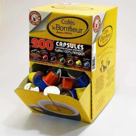 200 capsules de café compatible Nespresso®* - Boite distributrice