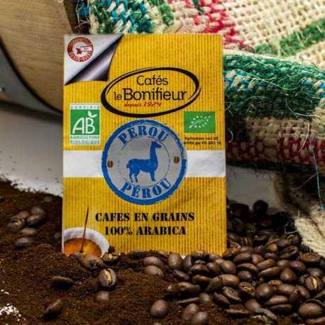 Café BIO lavé Pérou gamme Premium cafés le bonifieur