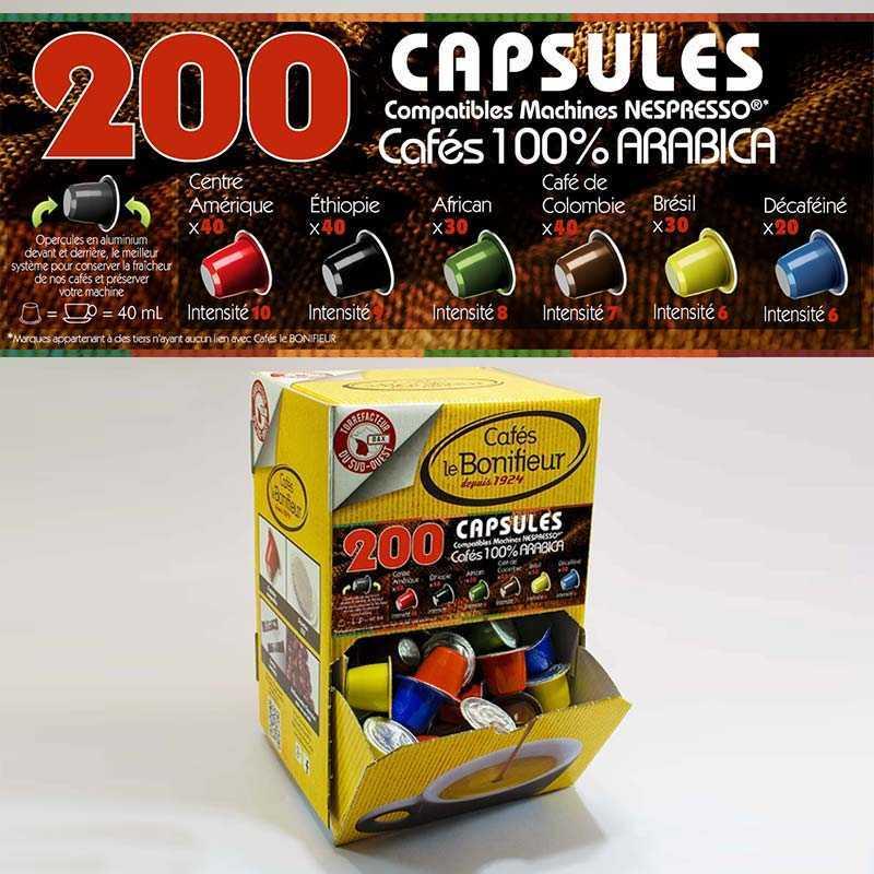 Machine Magimix Inissia Nespresso® + 400 capsules Cafés BONIFIEUR