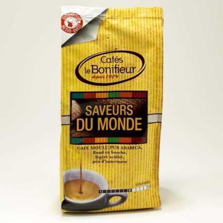 Saveurs du monde Café moulu Pur Arabica par cafés le BONIFIEUR