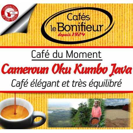 café en grain ou moulu CAMEROUN OKU KUMBO - java Afrique - torréfié en france par café le bonifieur