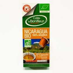 Capsules de café BIO NICARAGUA compatibles machines Nespresso
