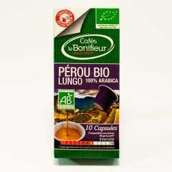 Capsules de café BIO PEROU LUNGO compatibles machines Nespresso