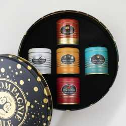 Coffret ronde des thés 5 boites luxes - Thés compagnie coloniale©