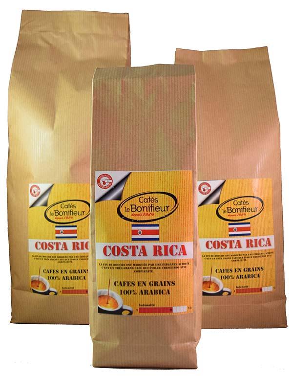 Café COSTA-RICA premium grain ou moulu cafes le bonifieur
