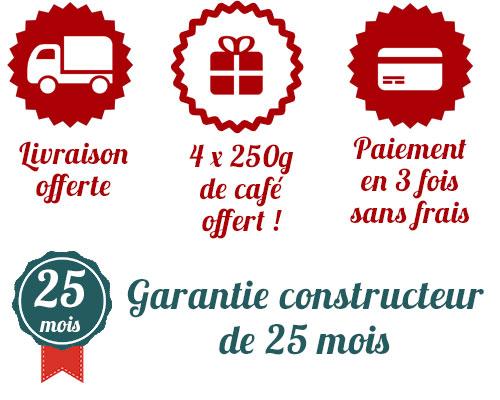 Avantage achat machine à café JURA chez Cafés le BONIFIEUR